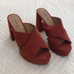 Chinese Laundry red platform heels
